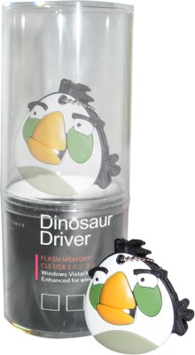 Dinosaur Drivers Angry Bird White 8 GB  Pen Drive (Multicolor)