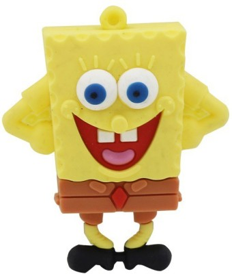 Qline Sponge Bob 8 GB  Pen Drive (Yellow)