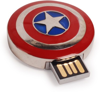 ENRG Captain America Shield 8 GB  Pen Drive (Red, Silver)