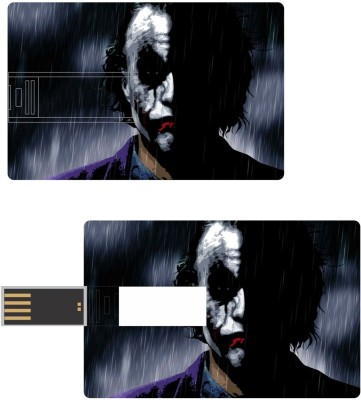 Print Shapes joker in rain Credit Card Shape