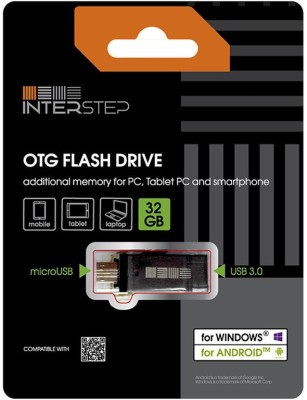 Interstep IS-FD-OTG32GMET-ENGB902 32 GB  Pen Drive (Black)
