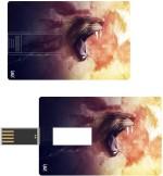 Print Shapes Fantasy lion face Credit Card Shape