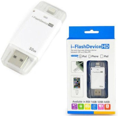 RoQ i-FlashDevice 32 GB  Pen Drive (White)