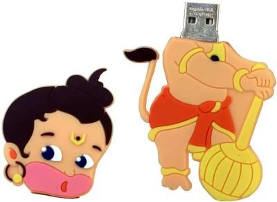 Zeztee Bal Hanuman Cartoon Character Shape 16 Gb Pen Drive Multicolor