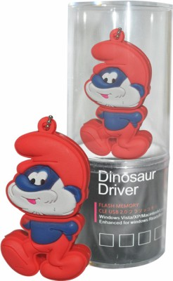 Dinosaur Drivers Smurfs 16 GB  Pen Drive (Red)