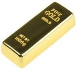 Quace Stylish Gold Bar Usb Pen