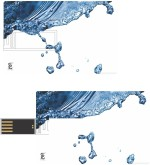 Print Shapes Pure water Credit Card Shape