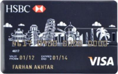 The Fappy Store HSBC credit Card 16 GB  Pen Drive (Black)
