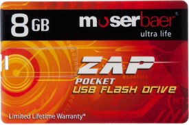 Moserbaer ZAP Pocket 8GB USB Pen Drive