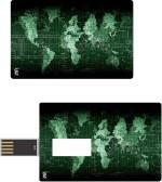 Print Shapes Green Map Credit Card Shape