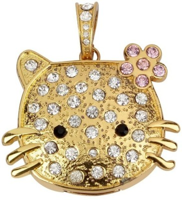 Quace Kitty 16 GB  Pen Drive (Gold)