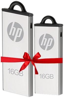 HP Combo of 2Pcs 16 GB  Pen Drive (Silver)