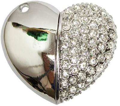 Zeztee Heart Shape Fancy Jewellery Style 16 GB  Pen Drive (Silver)