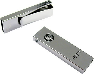 HP V-210 W 16 GB  Pen Drive (Grey)