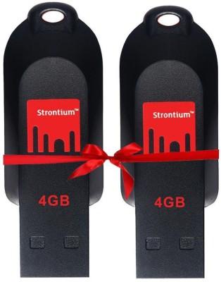 Strontium SR4GRDPOLLEX 4 GB  Pen Drive (Black, Red)