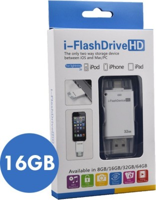 RoQ I-FlashDevice HD 16 GB  Pen Drive (White)