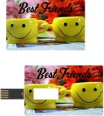 Print Shapes Best friends with yellow smiley mugs Credit Card Shape