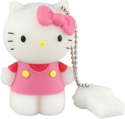Microware Hello Kitty Shape Designer Pen Drive 8 GB (Pink)
