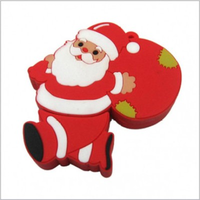 Smiledrive Santa Claus Shaped USB 8 GB Fancy Pendrive (White)