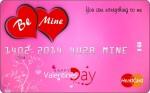 Z'BEL WOS327 Valentine Credit Card