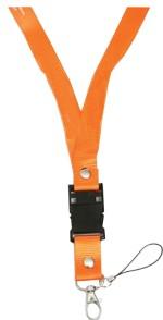 Microware Orange Lanyard Shape Designer Pen Drive Fancy Pen Drive