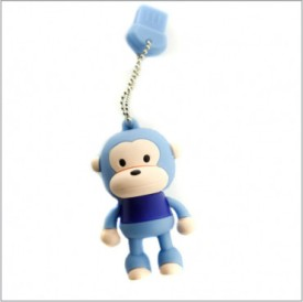 Smiledrive Cute Monkey Shaped USB 8 GB USB 2.0 Fancy Pendrive - Blue