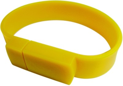 Capitel Wrist Band 8 GB USB 2.0 Fancy Pendrive - Yellow