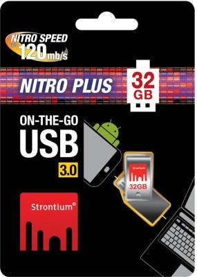 Strontium Nitro Plus 32 GB Pen Drive (Silver)