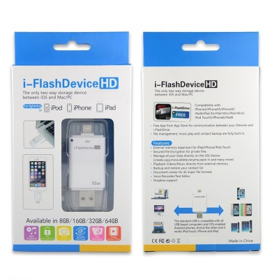 YourDeal 32GB i Flash Drive USB OTG Memory Stick 32 GB  Pen Drive (White)