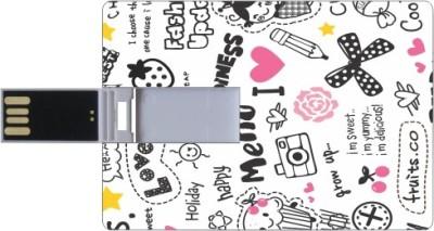 Printland Credit card Happiness 8 GB  Pen Drive (Multicolor)