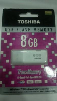 Toshiba Hayabusa 8 Gb 2.0 8 GB  Pen Drive (White)