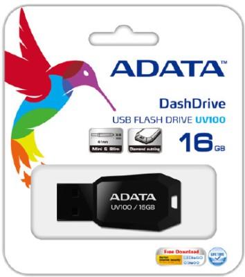 Adata UV100 Slim 16 GB Pen Drive (Black)