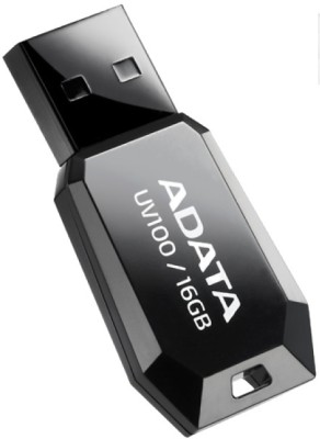 Adata UV100 Slim 16 GB Pen Drive (Black)