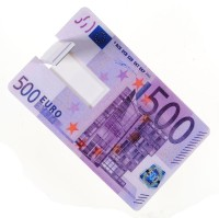 U-bon 8GB Credit Card Pen Drive 500 Euro 8 GB  Pen Drive (Pink)