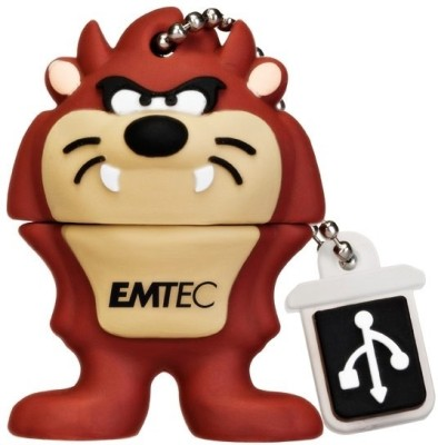 EMTEC Looney Tunes Taz 8 GB  Pen Drive (Brown)