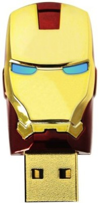 ENRG Iron Man Face 16 GB  Pen Drive (Red, Gold)