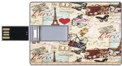 Design worlds Paris DWPC88107 8 GB  Pen Drive (Multicolor)