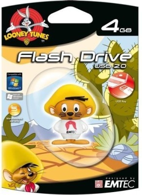 EMTEC Looney Tunes speedy 4 GB  Pen Drive (Multicolor)