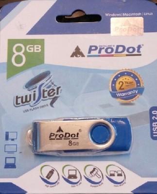 ProDot Twister USB 2.0 8 GB  Pen Drive (Blue)