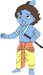 Zeztee Bal Gopal Cartoon Character Shape