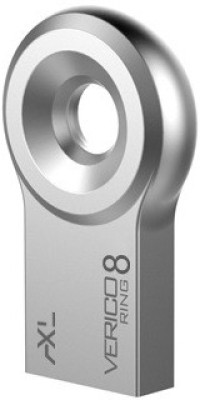 AXL Verico Ring Silver 8 GB  Pen Drive (Silver)