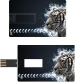 Print Shapes Abstract tiger Credit Card Shape