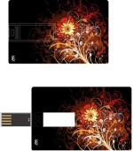 Print Shapes Flowers Abstact Credit Card Shape