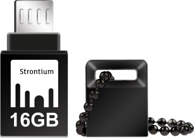 Strontium 16GB NITRO ON-THE-GO (OTG) USB 3.0 FLASH DRIVE 16 GB  Pen Drive (Black)