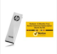 HP V210w With Norton Antivirus 12 Month Subscription 16 GB  Pen Drive (Grey)