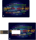 Print Shapes Happy Friendship Day Credit Card Shape