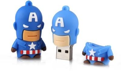 Dreambolic Captain America 32 GB  Pen Drive (Blue)