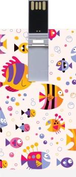 Garmor GRPd_551 Designer Printed Credit Card Shape 8GB Pendrive
