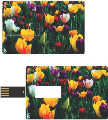 Print Shapes Colorful flowers Credit Card Shape