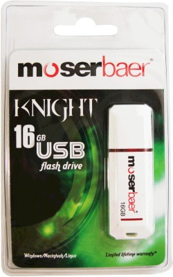 Moserbaer USB Drives 16GB Knight 16 GB  Pen Drive (White)